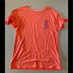 Coral girls t shirt